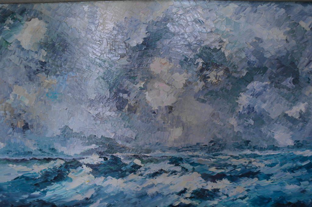 Pierre Struys, Noordzee, olieverrf op doek, 1983, 54x81cm